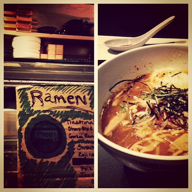 Late night ramen at Uni!! #yum