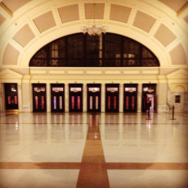 An empty Worcester train station.