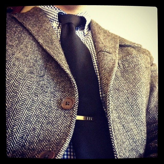 A cold winter day calls for #herringbone.