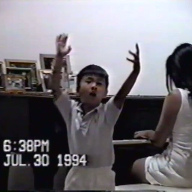 "tbt to awkward, impromptu, interpretivedance recitals by 4 year old Dan at family gatherings. Featuring the signature move: ""something's gone bad in the refrigerator""."