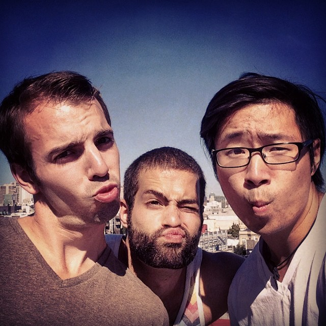 Craggin' dragons doing some #urbanclimbing. #sf #rooftop #duckfaces @cruxcoder