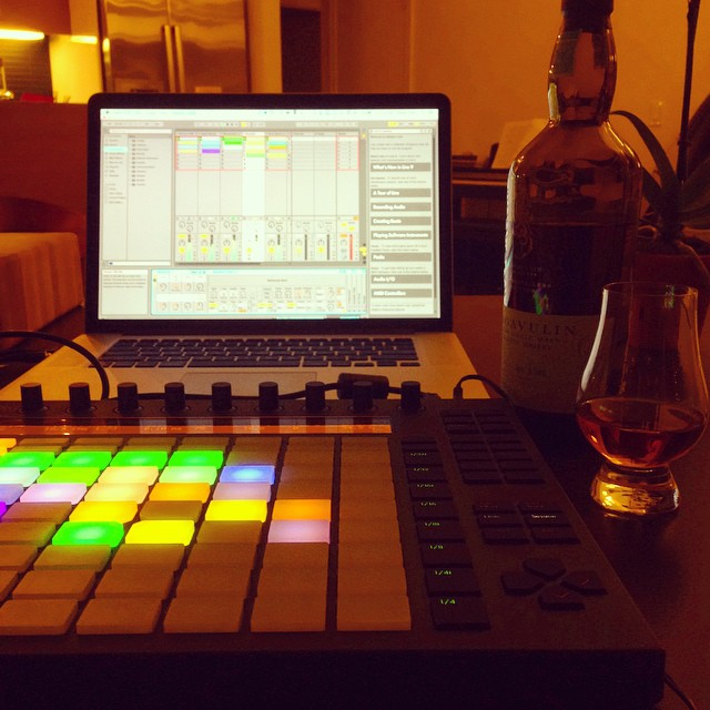 My Friday night: #scotch and #beats.