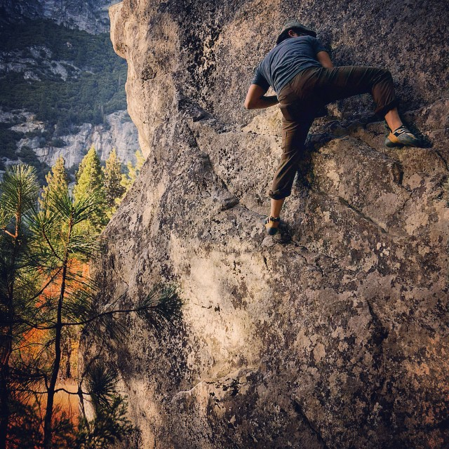 #bouldering at the Curry Village in #yosemite. It was an unbelievably beautiful weekend.