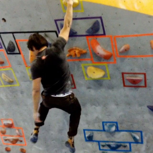 Sticking some fun #dynos in Dogpatch with the crew. #bouldering