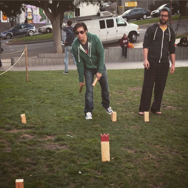 Happened upon some folks in Dolores playing this Swedish game called Kubb. Got in on a friendly match.