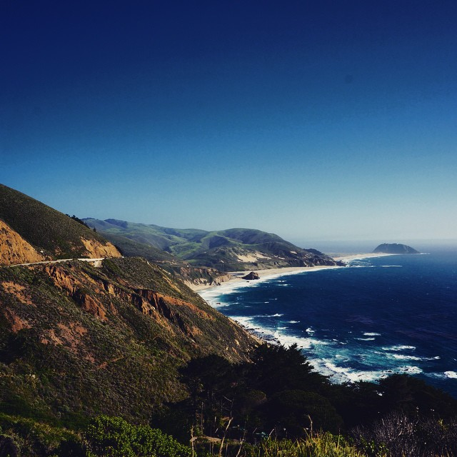 Hiking along Big Sur on an absolutely gorgeous day.