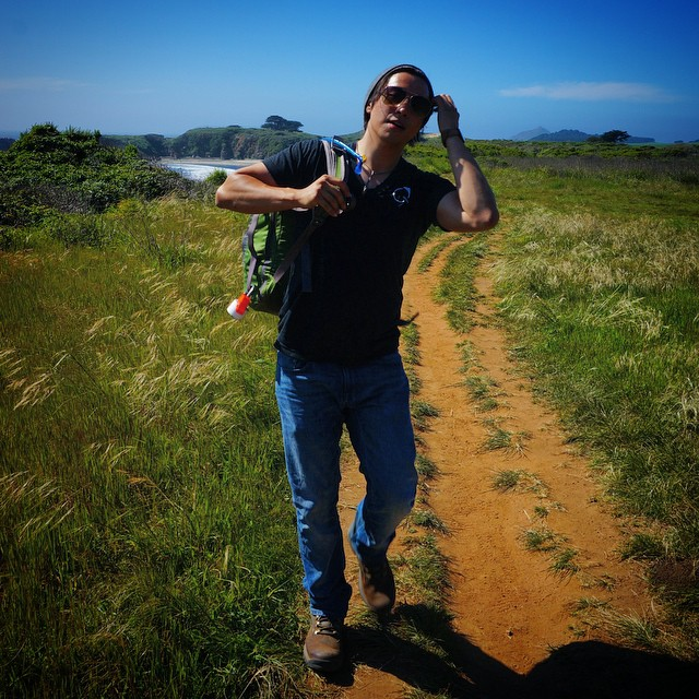 Hiking candid out in #bigsur. : @inkless_pen