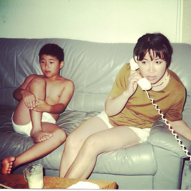 #tbt to hangin' in my briefs, drinking milk, while mom made deals. Ahh the good life.
