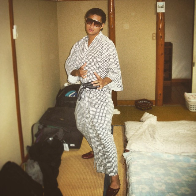 #tbt to striking a pose in a kimono and slippers in Choshi, Japan. #travel #dins #worldtour