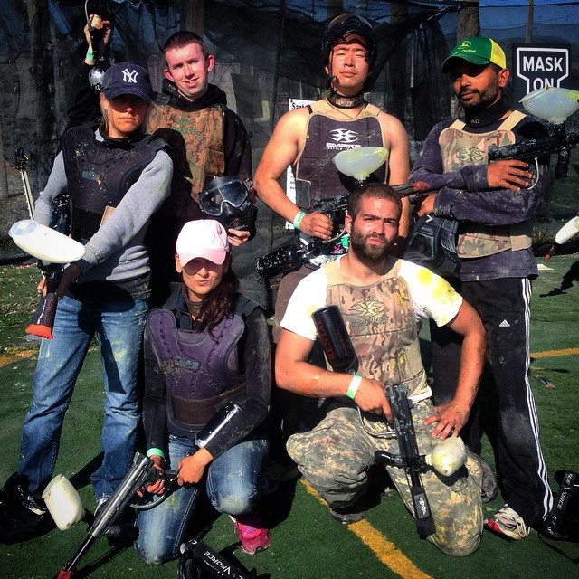 Company #paintball outing. Champions, every one of 'em.