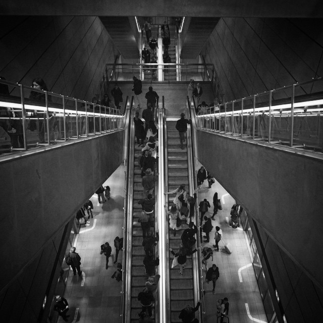 Busy Kongens Nytorv station on the Copenhagen Metro (Københavns Metro) in the heart of the city. Really enjoyed the design of everyday things in this city. #travel #denmark #copenhagen