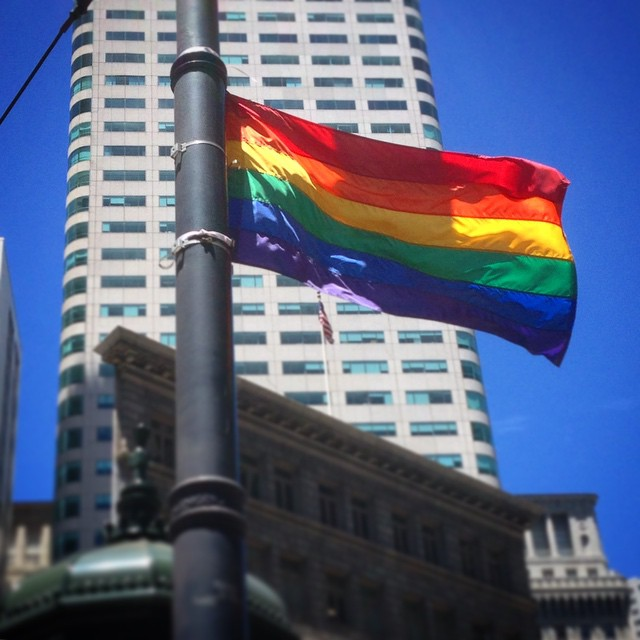 A beautiful day in the neighborhood. #lovewins