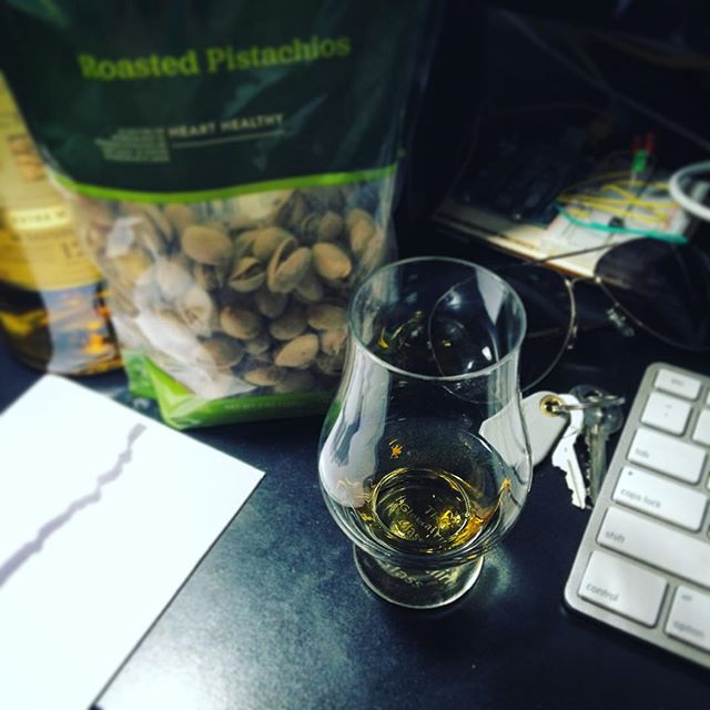 Tonight's dinner menu features a medley of #scotch and #pistachios. #workingmeals