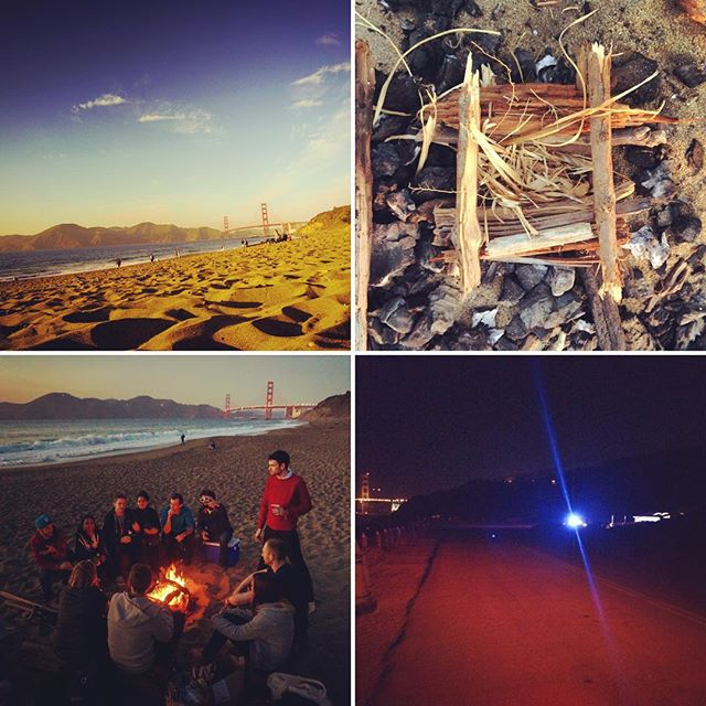 A stellar Thursday evening, by my count. 1) #beach, 2) tinder, 3) #family, 4) cops. #SF