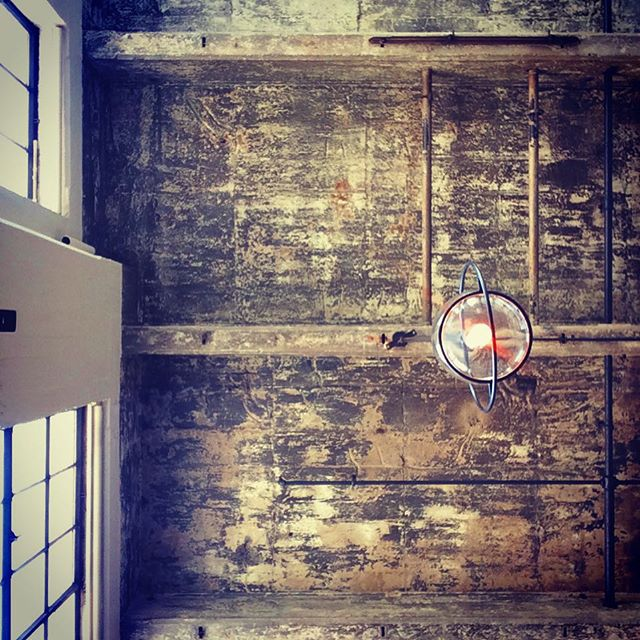 A rustic #brunchtime ceiling at Serpentine in Dogpatch.