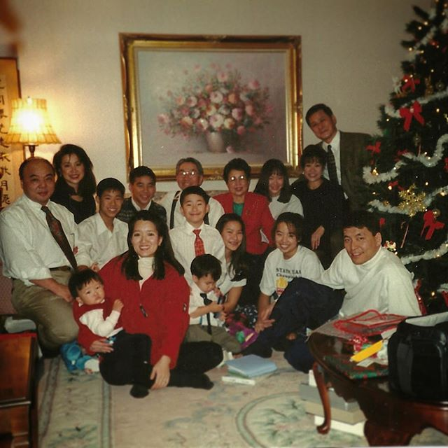 A nostalgic #tbt to my 8th Christmas Eve. (We always did gifts at midnight, and I didn't know how to smile with teeth yet.) #family