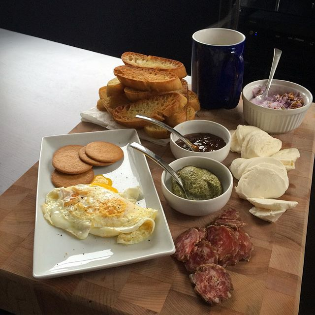 A simple, but hearty #brunch platter is just the ticket for an overcast day in #SF. #latergram #nofilter