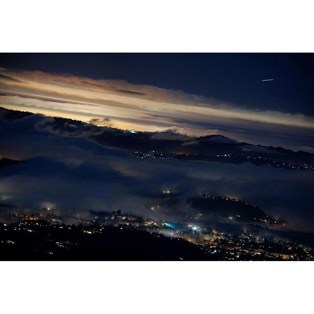 5-second exposure from our camp at the summit of Mt. Diablo reveals #SF shining into the night sky, nearly 40 miles away. #photo #night #camping #nature