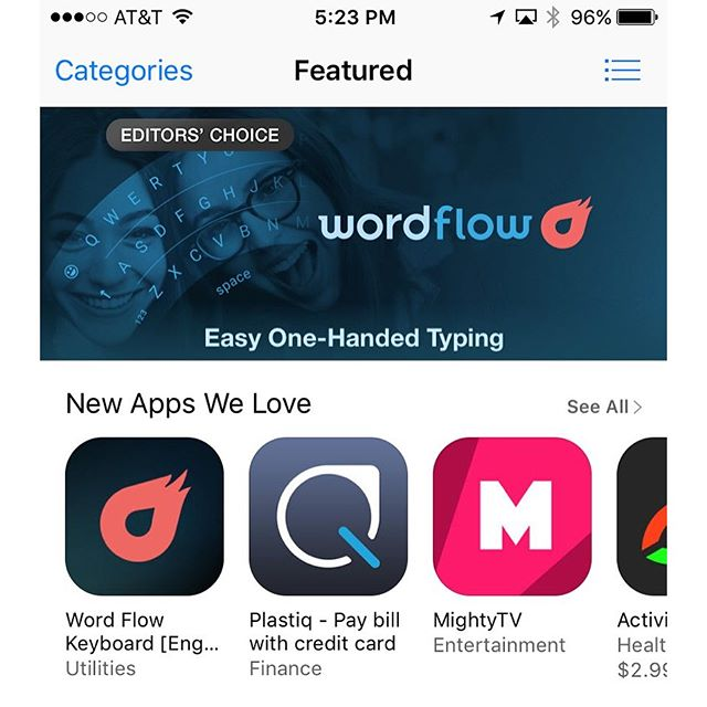 Oh em gee. @payplastiq featured on the front page of the Apple App Store.