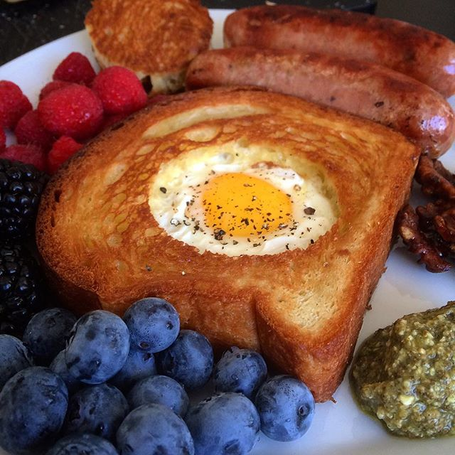 Egg-in-the-hole takes homemade #bread to the next level. #brunch