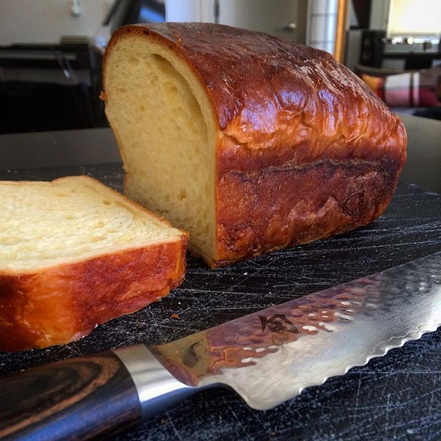 Made my first ever loaf of fresh, buttery, fluffy #brioche.