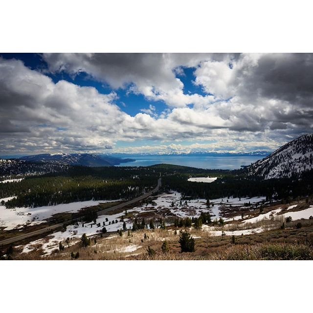 View from the top in #Tahoe.