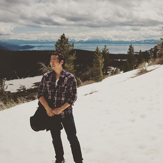 Waiting for the crew while snowy mountain hiking. #Tahoe