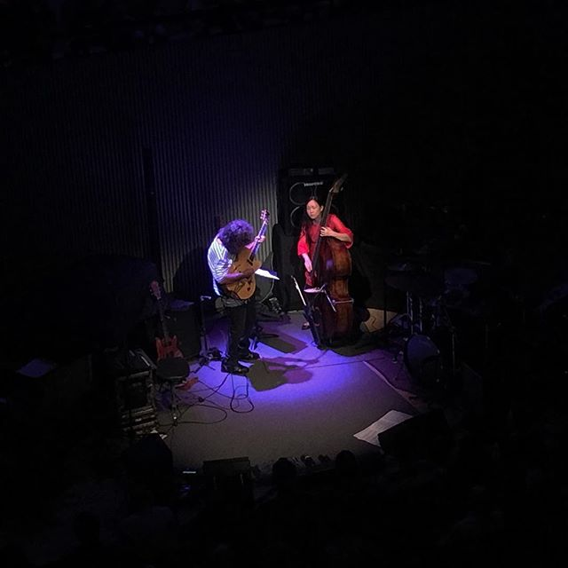 Pat Metheny & Linda Oh, killing it along with the rest of the quartet over at #SFJAZZ. Great start to Season 5! #Jazz in #SF