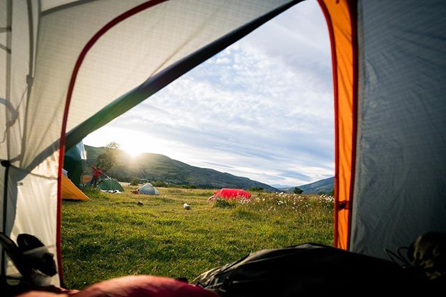 Always wanted to take one of these shots. #patagonia #tentlife