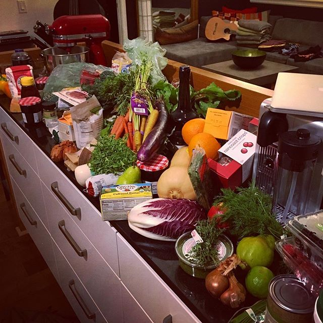 Groceries haul from the last dinner party. My sauté hand is starting to itch for another...  #latergram